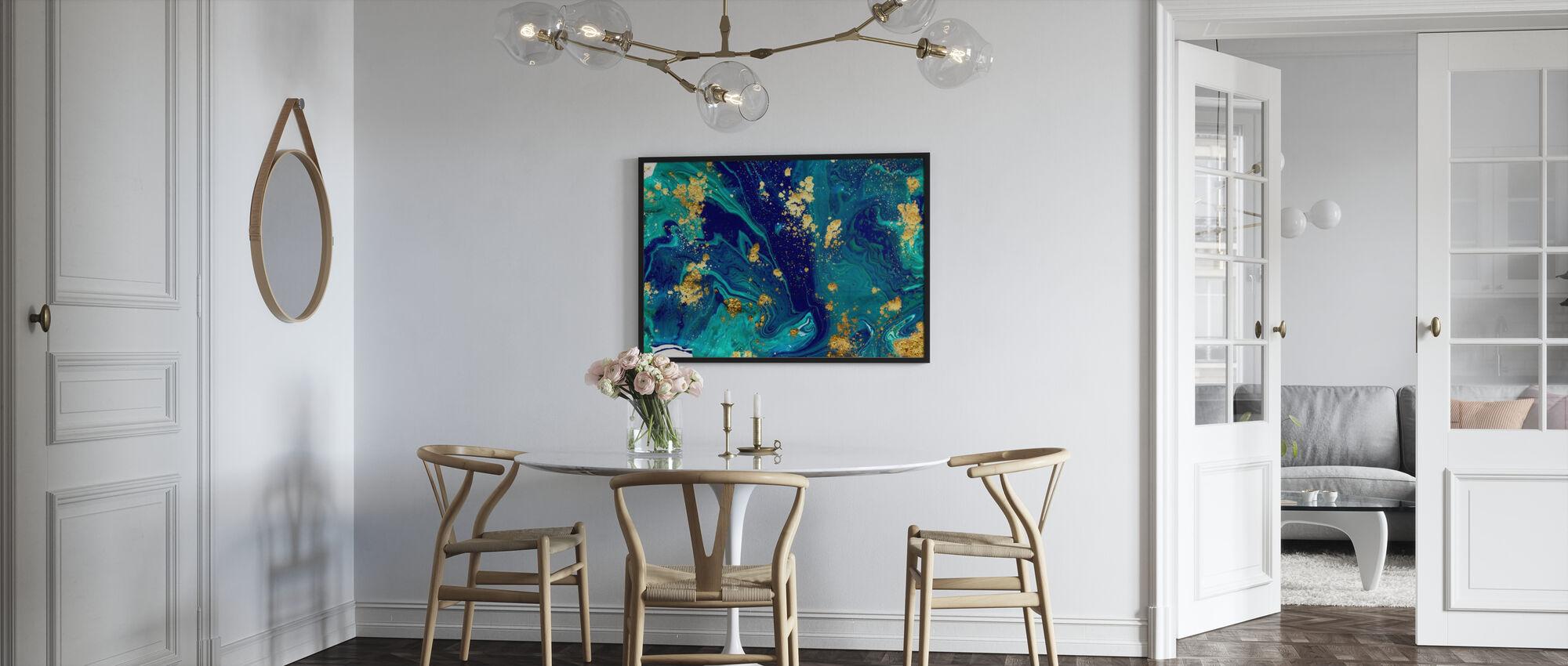 Blue Liquid Marble - Poster - Kitchen