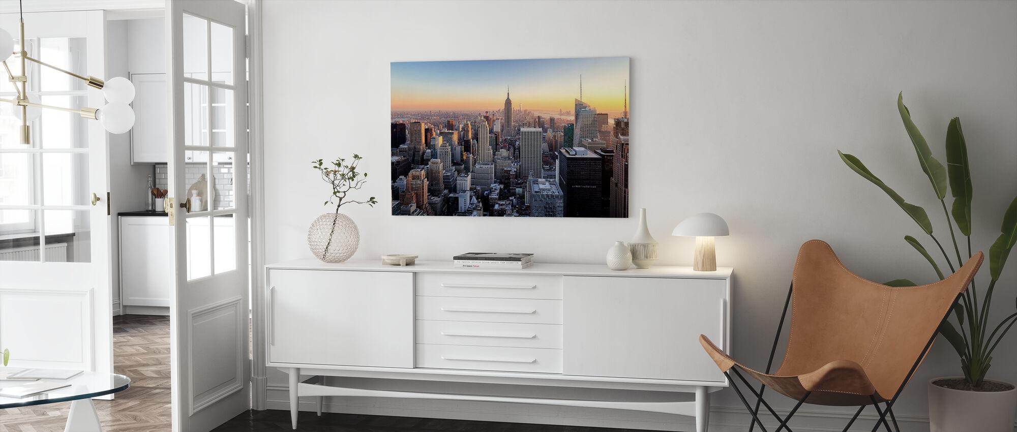 Manhattans skyline - Canvastavla - Vardagsrum