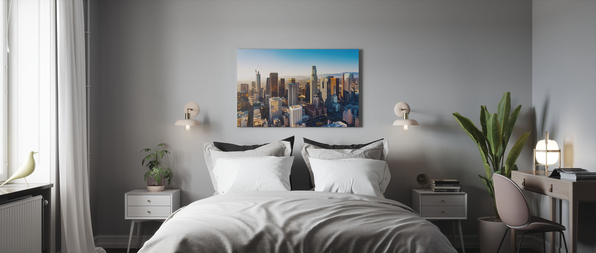 Downtown LA at Sunset - Canvas print - Bedroom