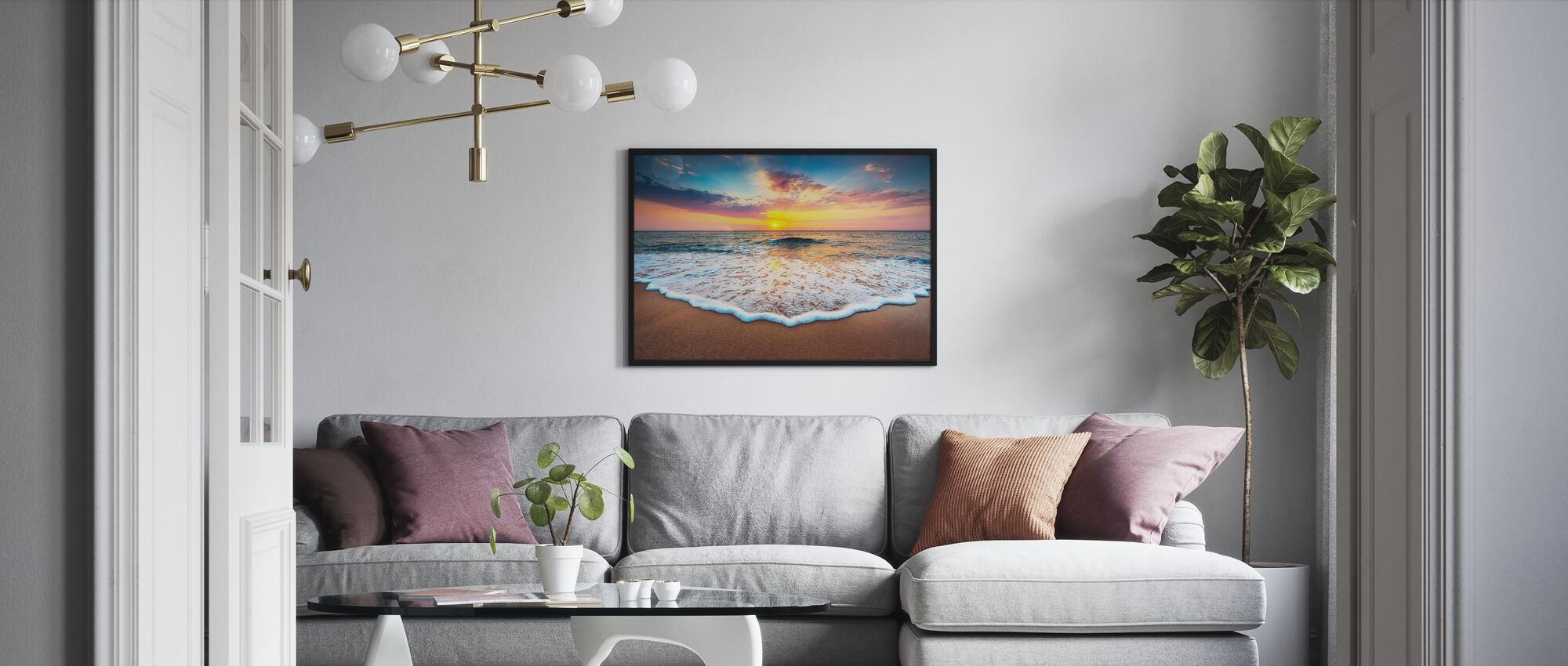 Sunrise and Dreams - Poster - Living Room