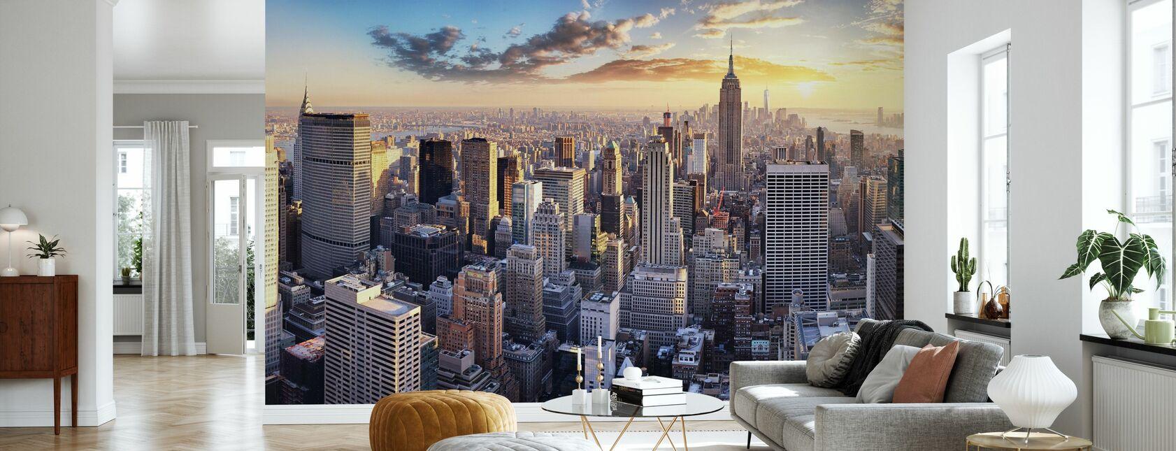 New York Skyline - Wallpaper - Living Room