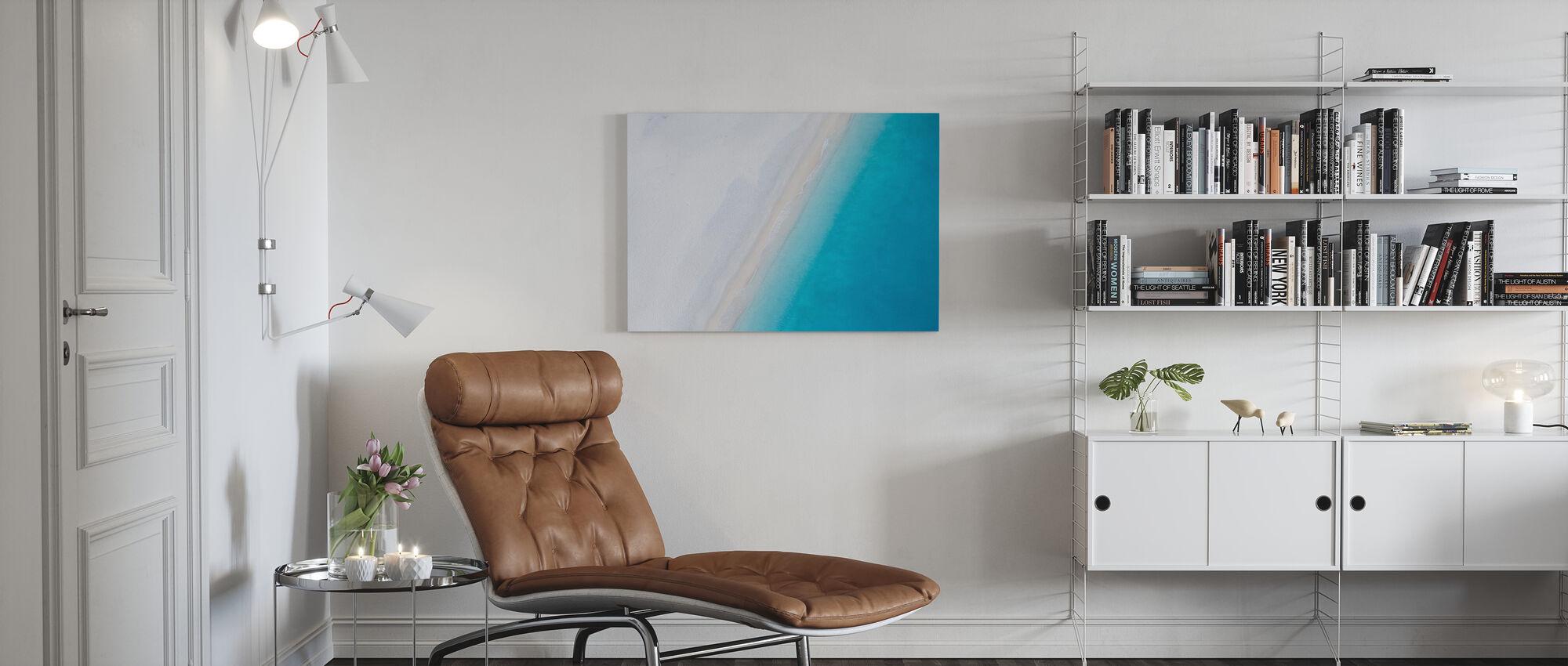 Deserted Sandy Beach - Canvas print - Living Room