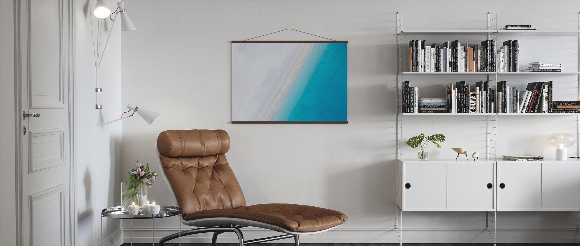 Deserted Sandy Beach - Poster - Living Room