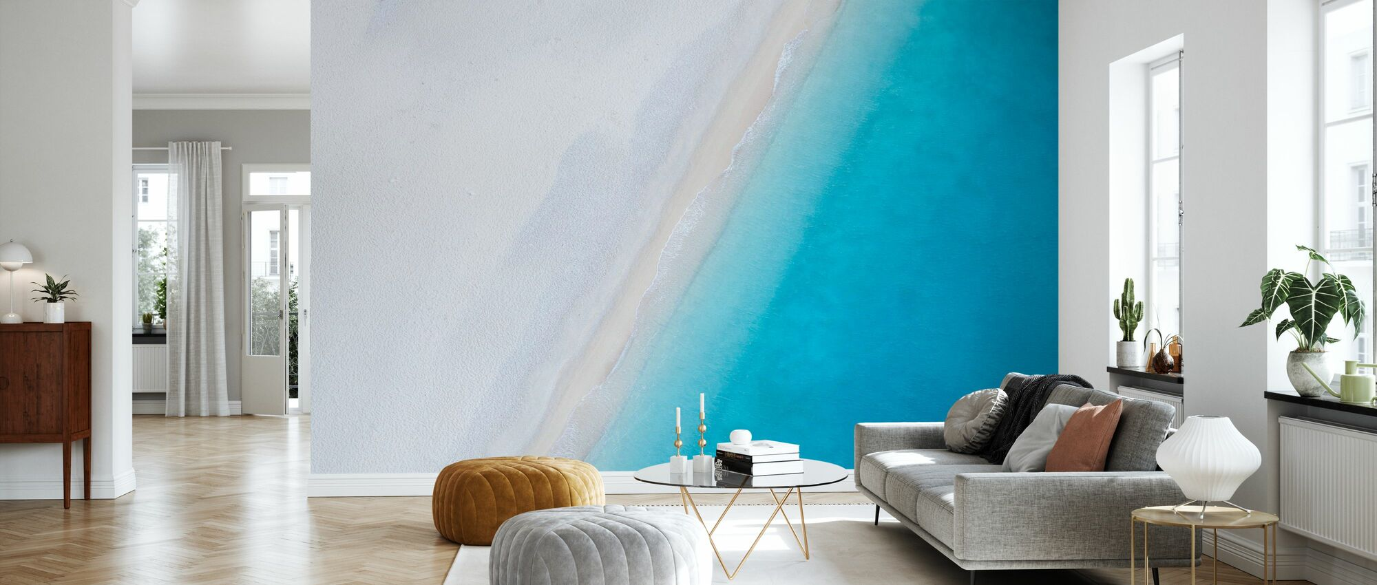 Deserted Sandy Beach - Wallpaper - Living Room