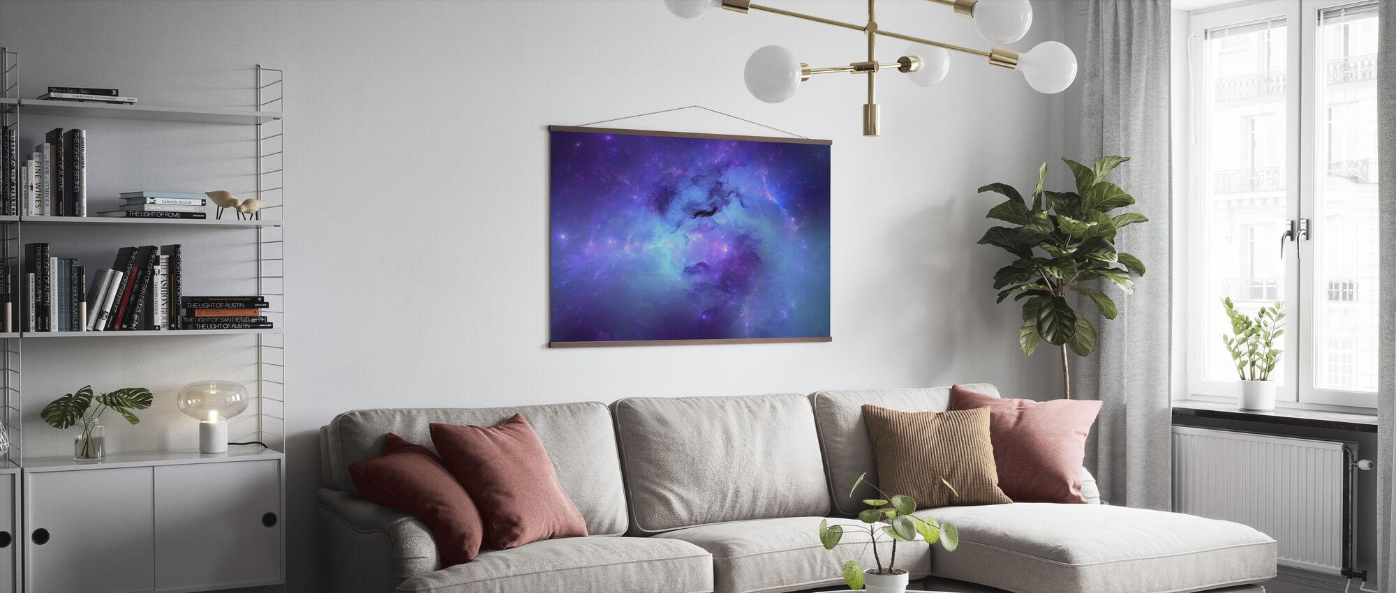 Blue Nebula - Poster - Living Room