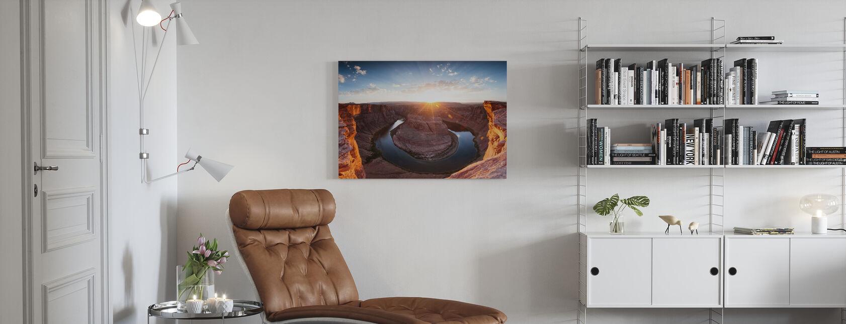 Hevosenkengän mutka - Canvastaulu - Olohuone