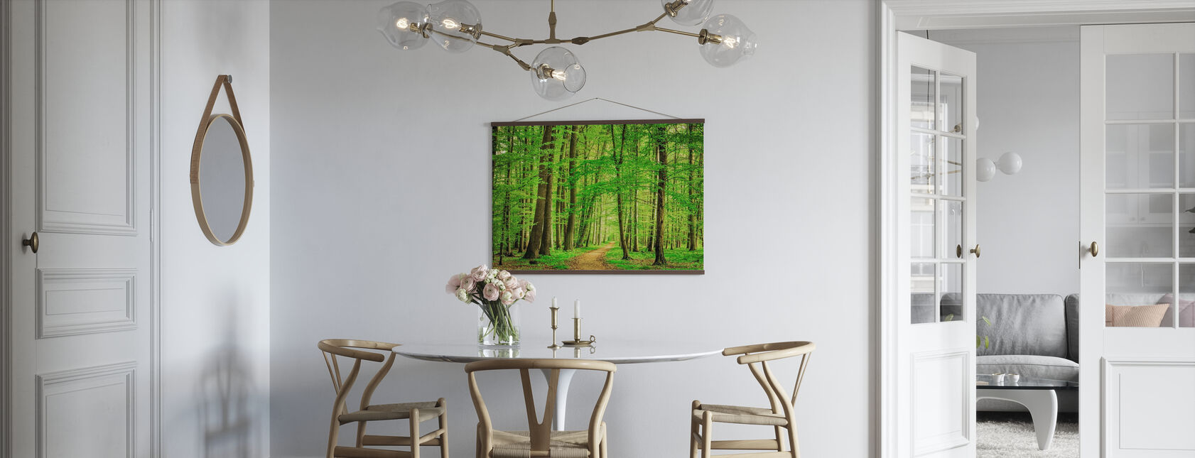 Bosque Verde en Primavera - Póster - Cocina