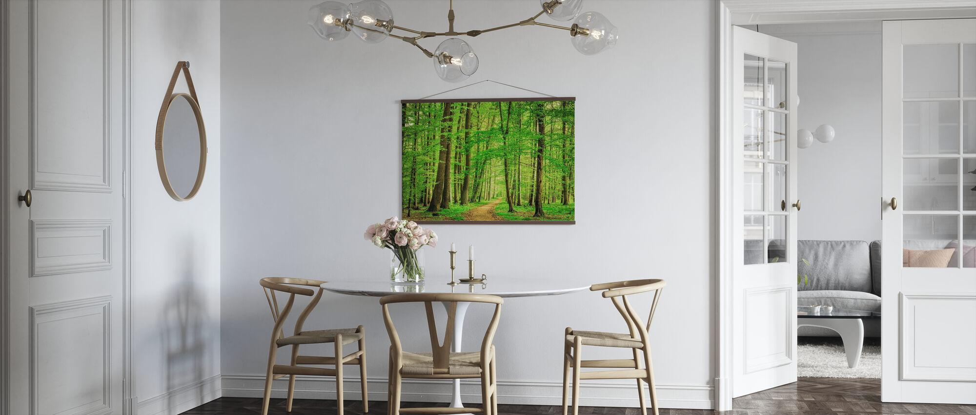 Gröna skogen på våren - Poster - Kök