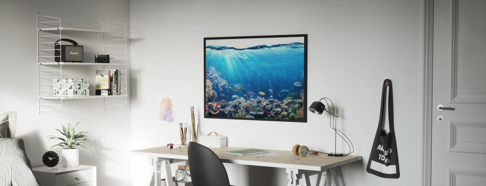 Underwater Scene - Poster - Kids Room