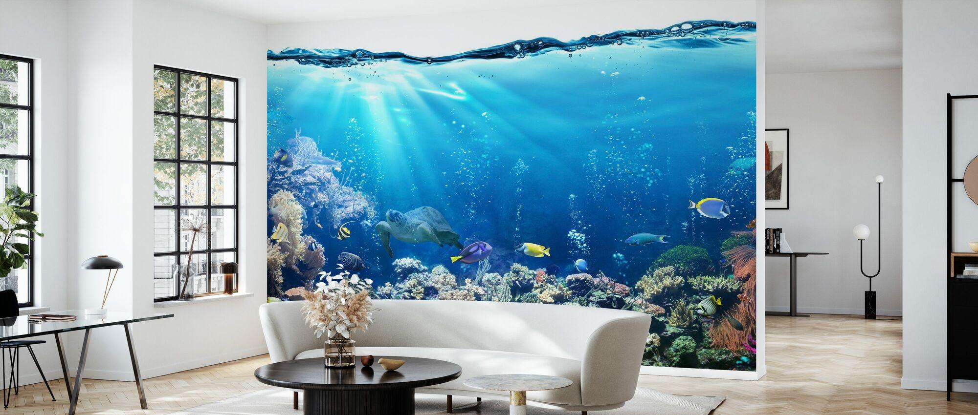 Undervattensscen - Tapet - Vardagsrum