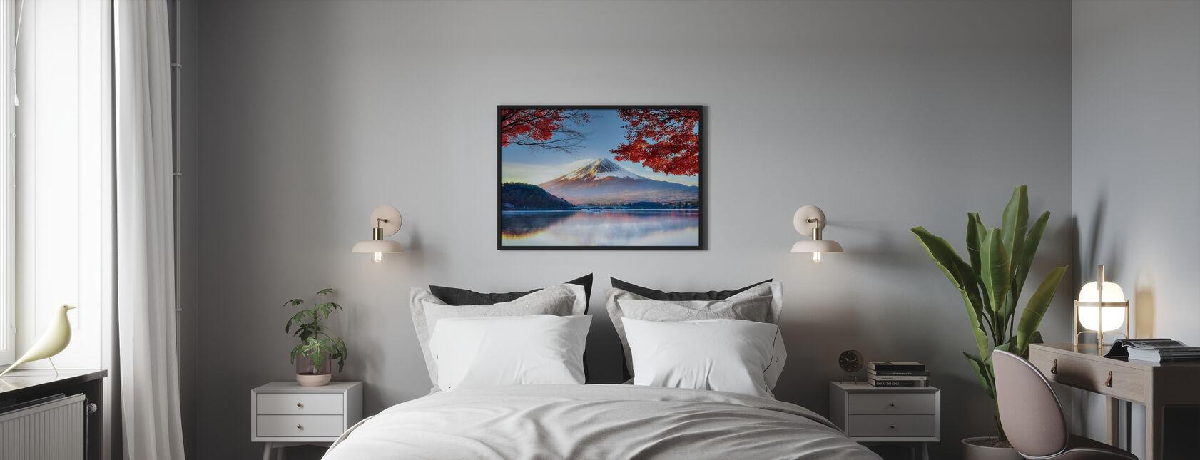 Fuji Mountain in Autumn - Framed print - Bedroom