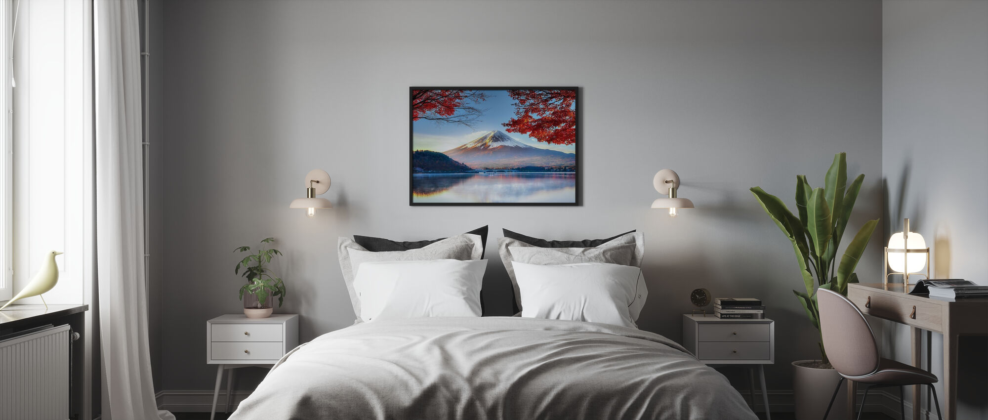 Fuji Mountain in Autumn - Poster - Bedroom