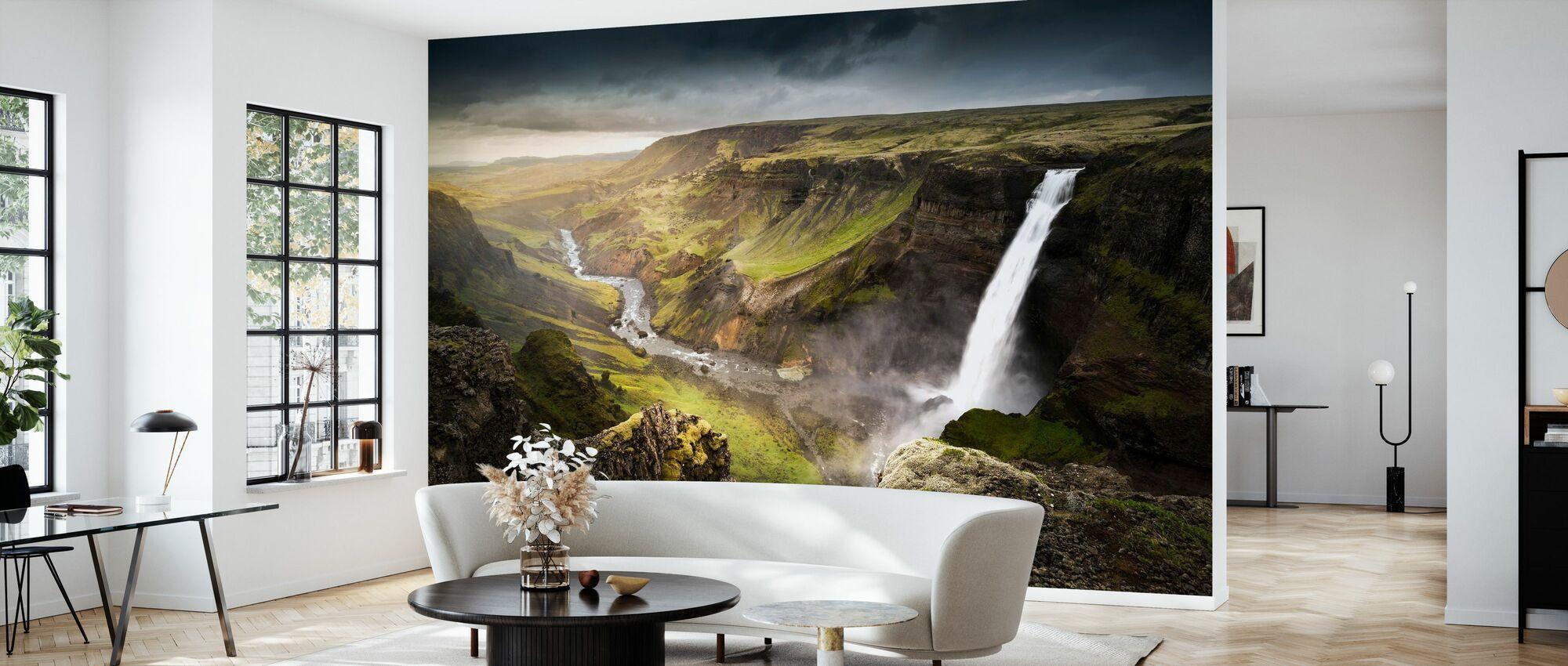 Haifoss Waterfall - Wallpaper - Living Room