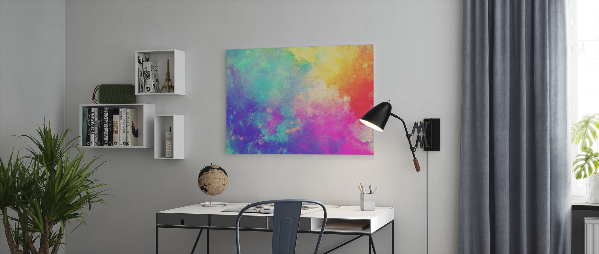 Watercolor Textured Background - Canvas print - Office