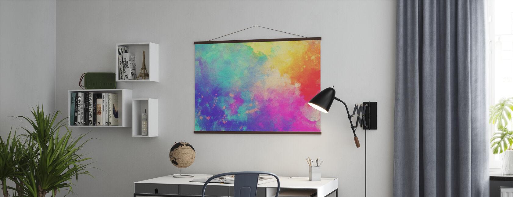 Aquarell Texturierter Hintergrund - Poster - Büro