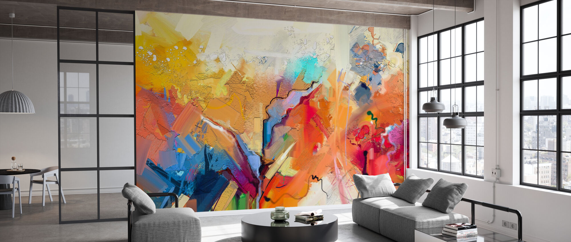 Colorful Abstract Painting - Wallpaper - Office