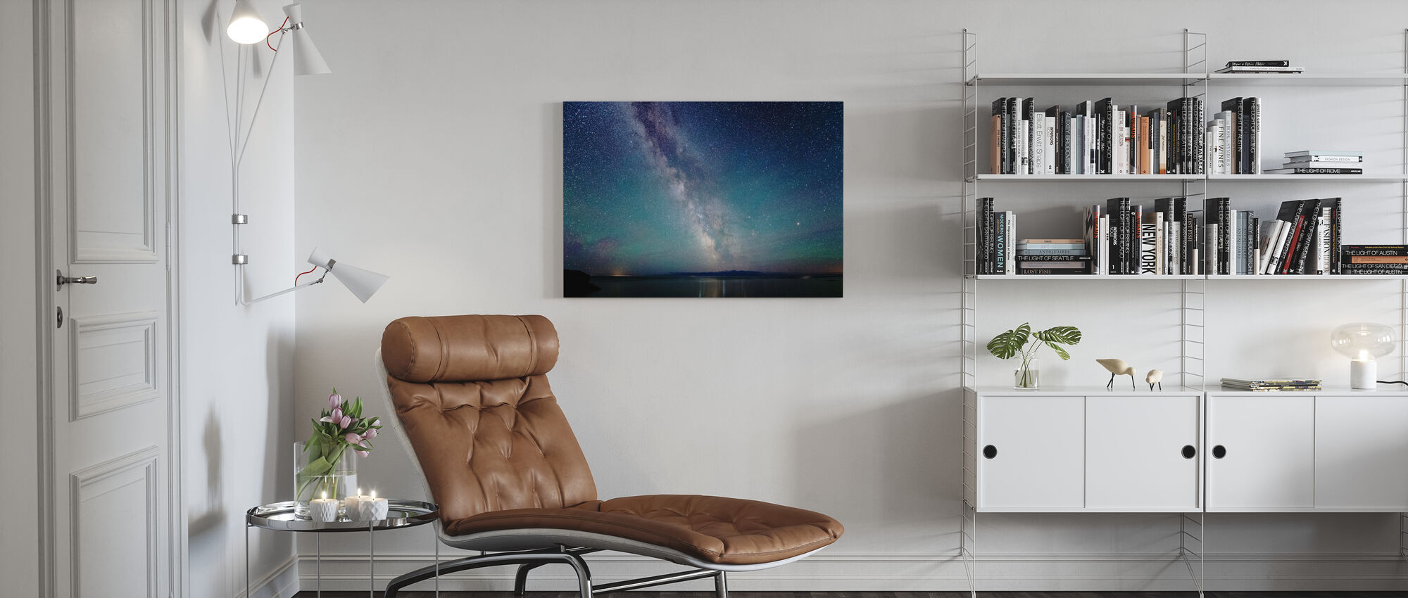 Milky Way Night Sky - Canvas print - Living Room