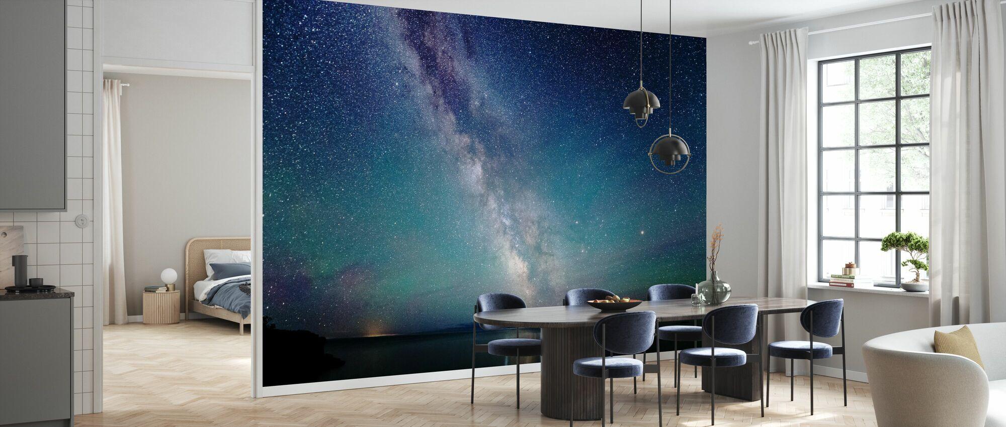 Milky Way Night Sky - Wallpaper - Kitchen