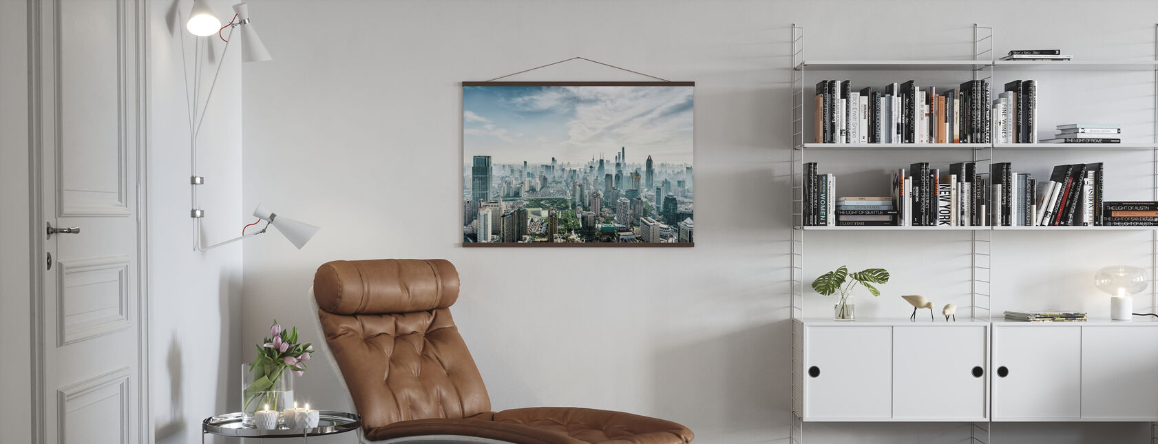 Skyline von Shanghai - Poster - Wohnzimmer