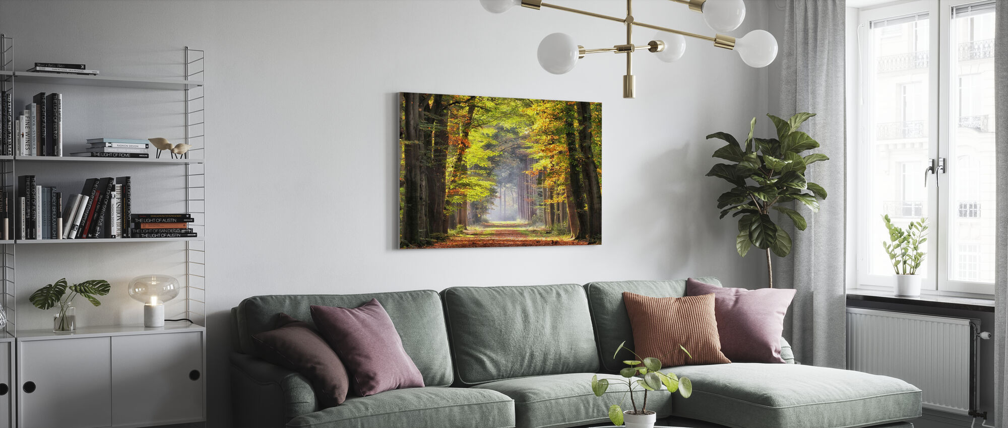 Avenue of Beech Trees - Canvas print - Living Room