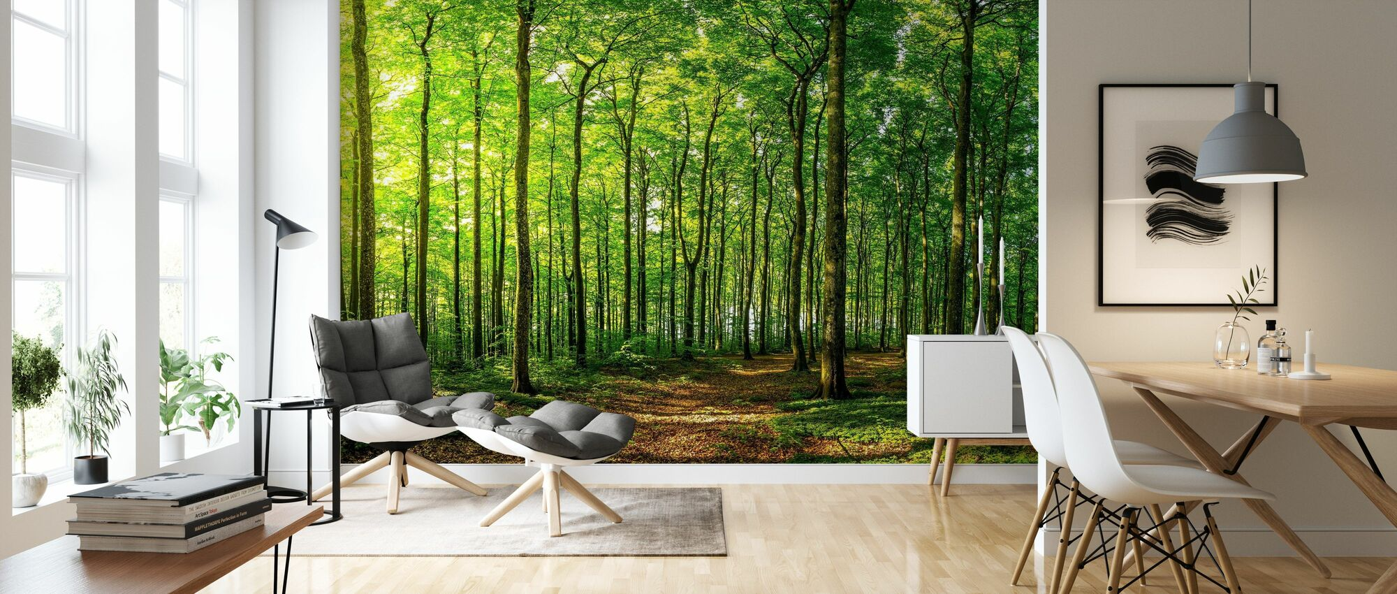 Green Beech Forest - Wallpaper - Living Room