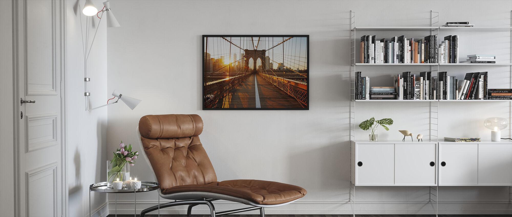 Brooklyn Bridge - Innrammet bilde - Stue