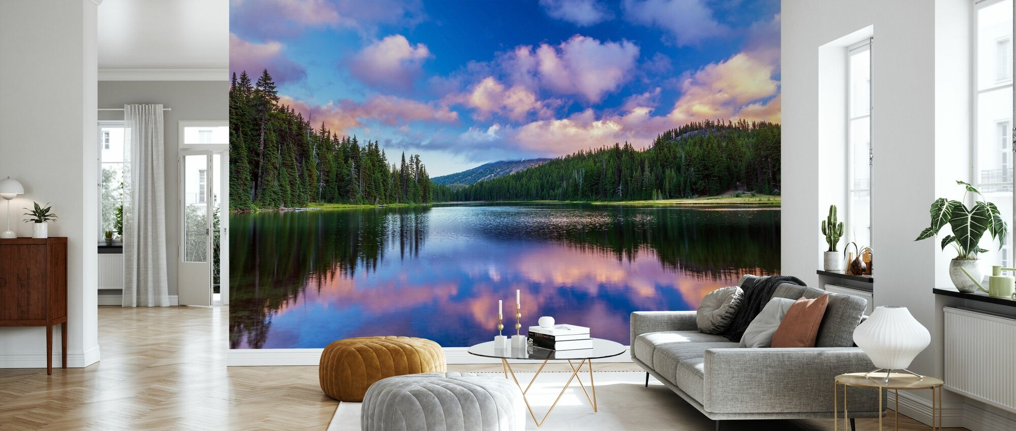 Todd Lake Bend - Wallpaper - Living Room