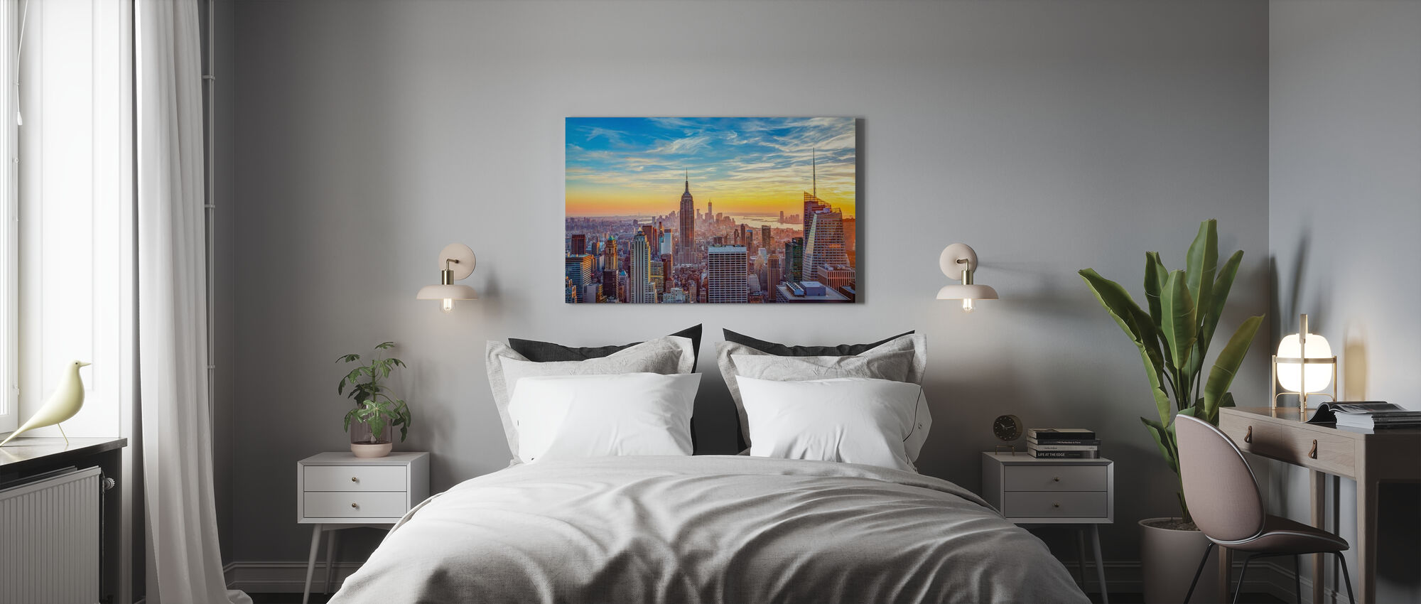 Aerial View of City - Canvas print - Bedroom