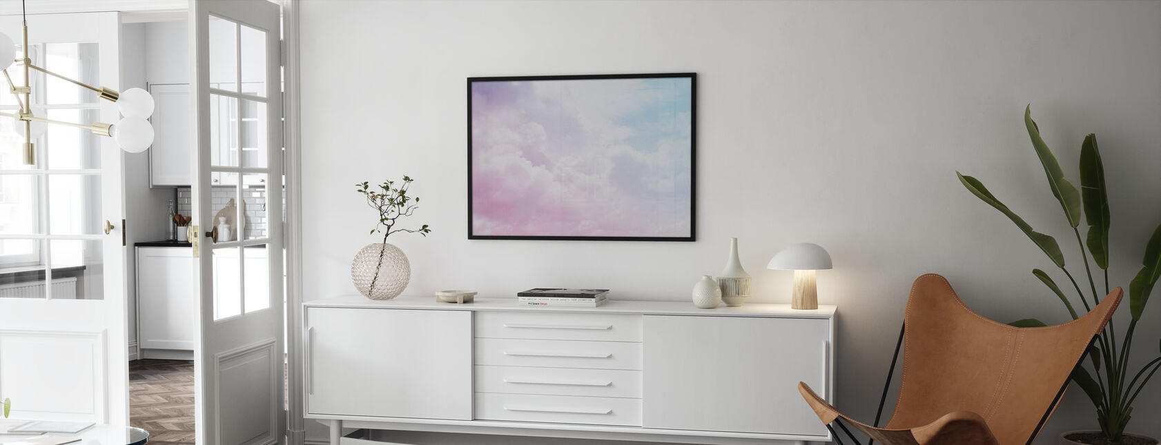 Bewolkte hemel - Poster - Woonkamer