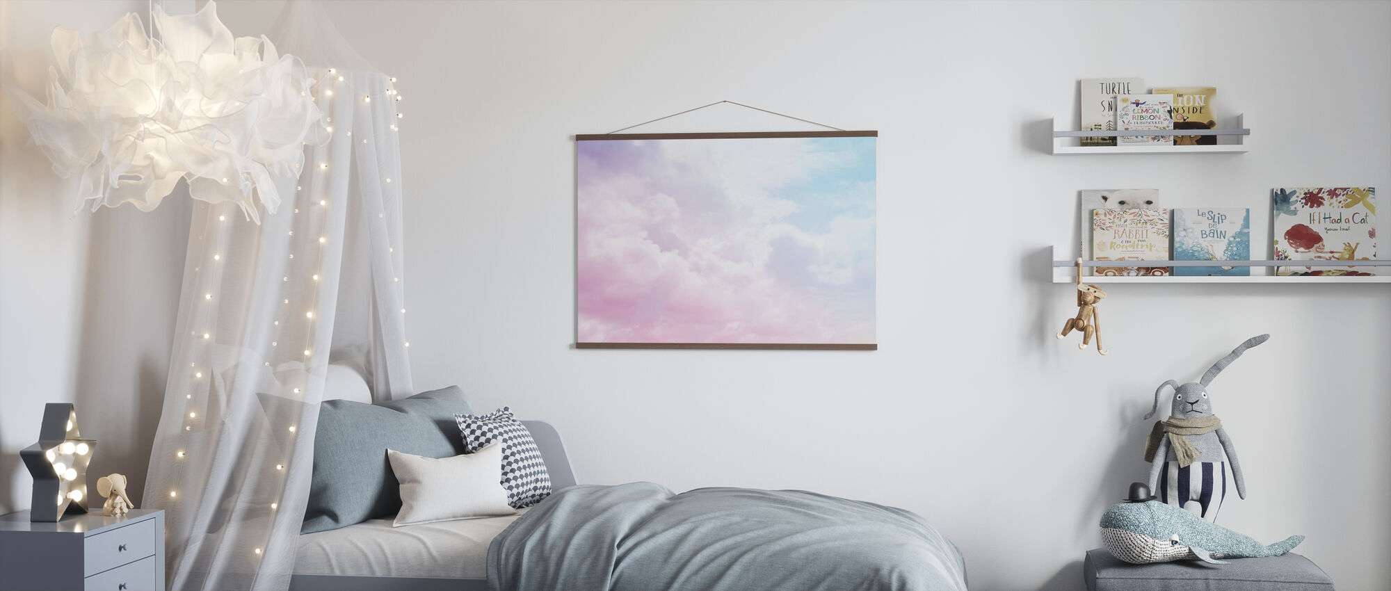Cloudy Sky - Poster - Kids Room