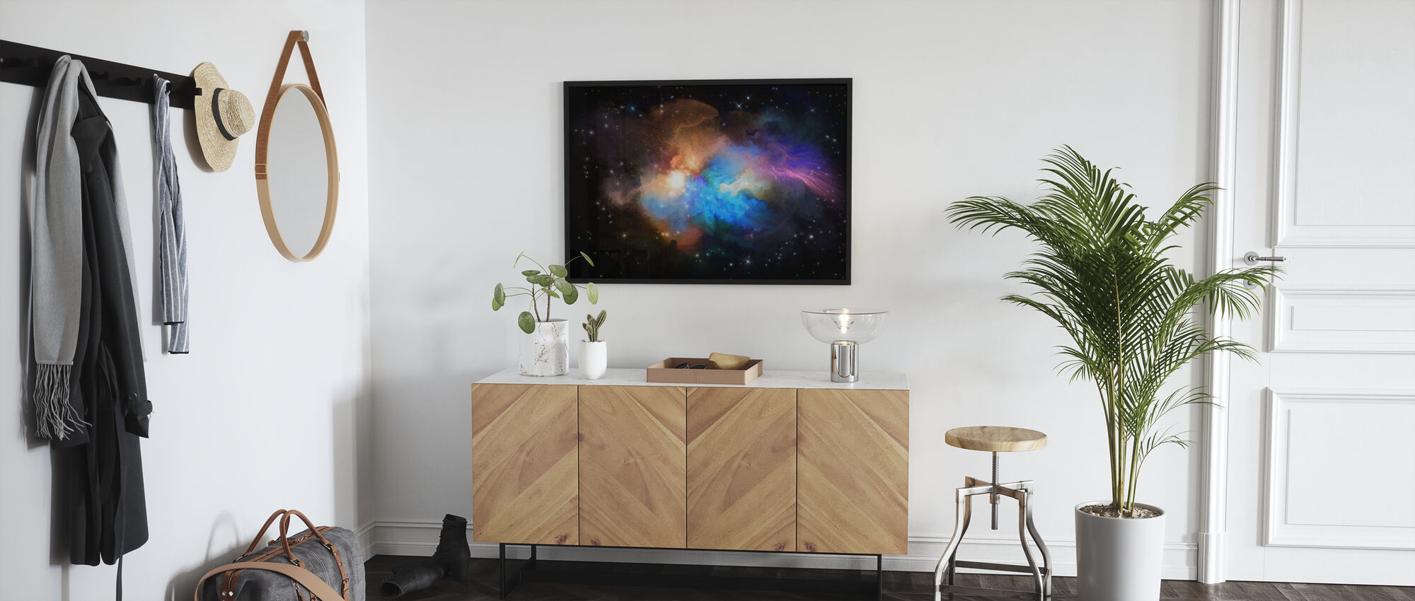Multicolored Nebula - Poster - Hallway
