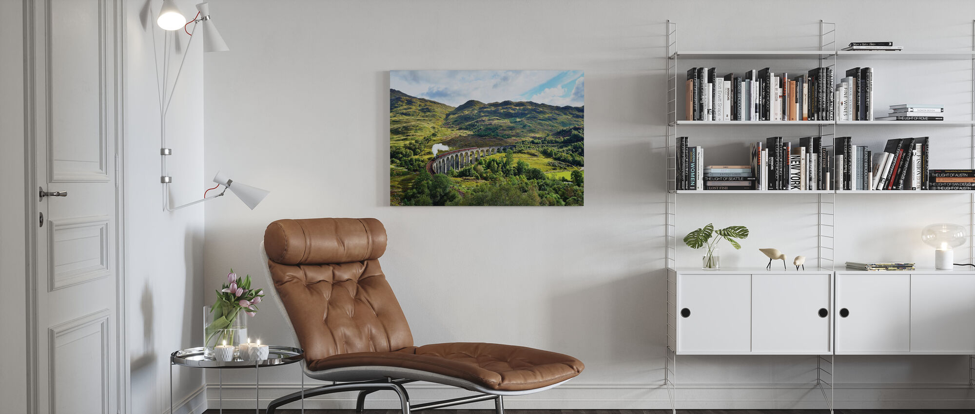 Train at Scotland Highlands - Canvas print - Living Room