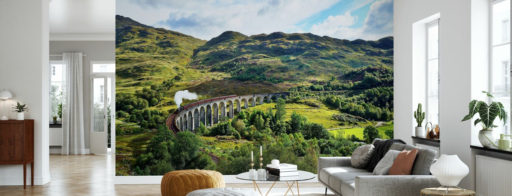 Tog på Skotland Highlands - Tapet - Stue