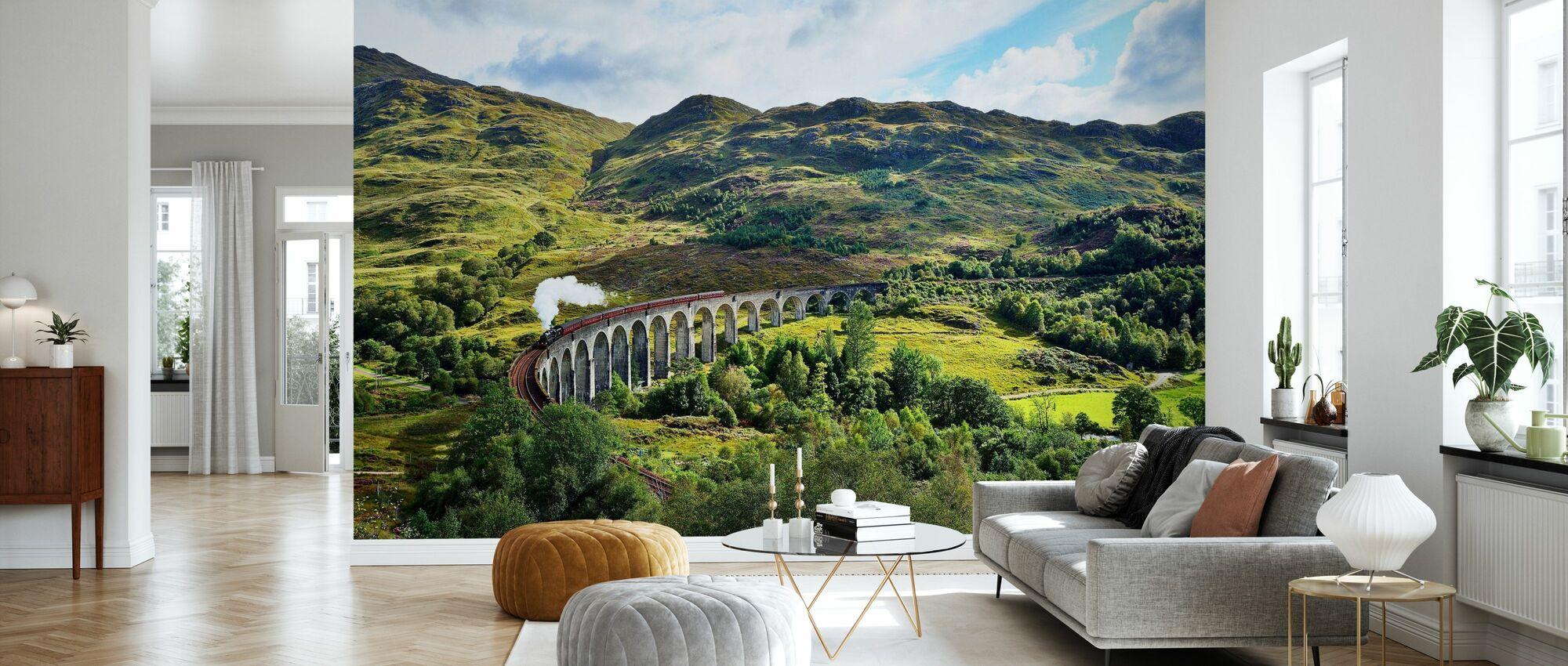 Tåg vid Skottland Highlands - Tapet - Vardagsrum