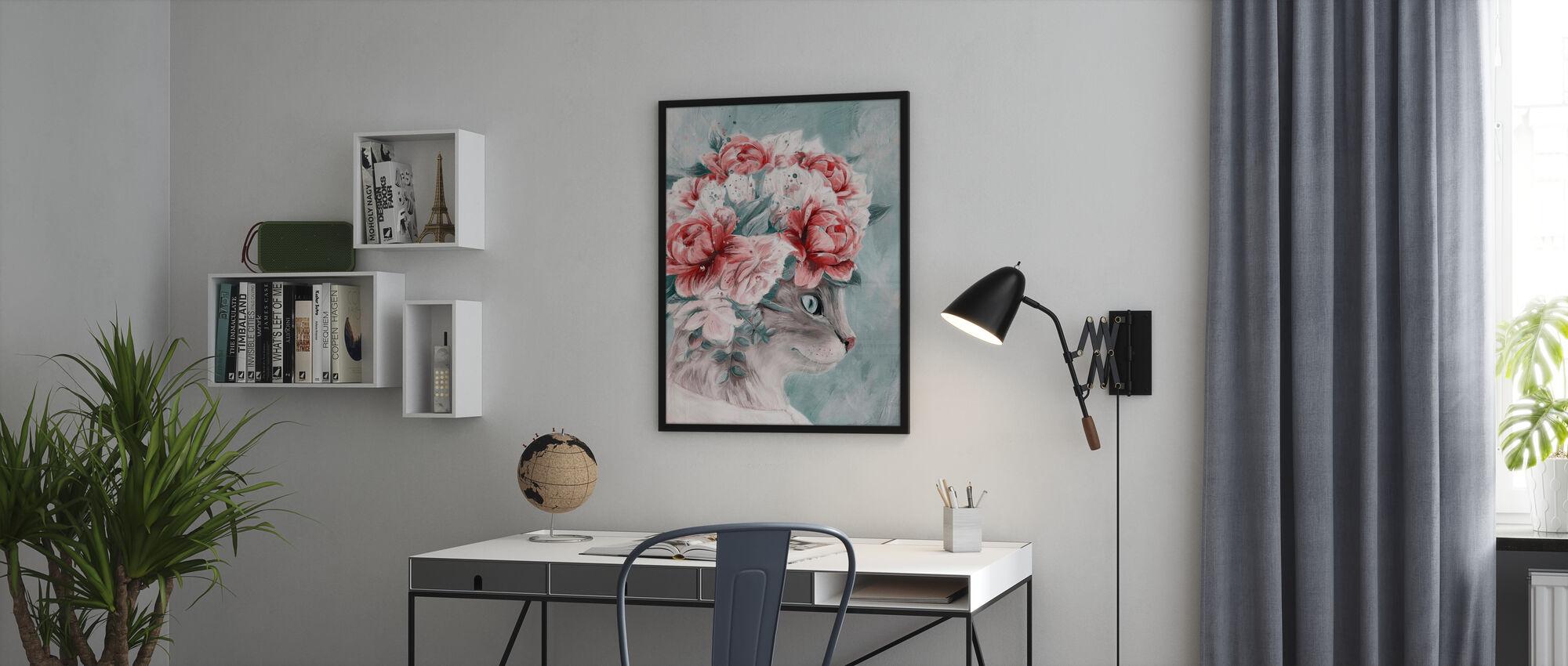Bouquet Cat - Poster - Office