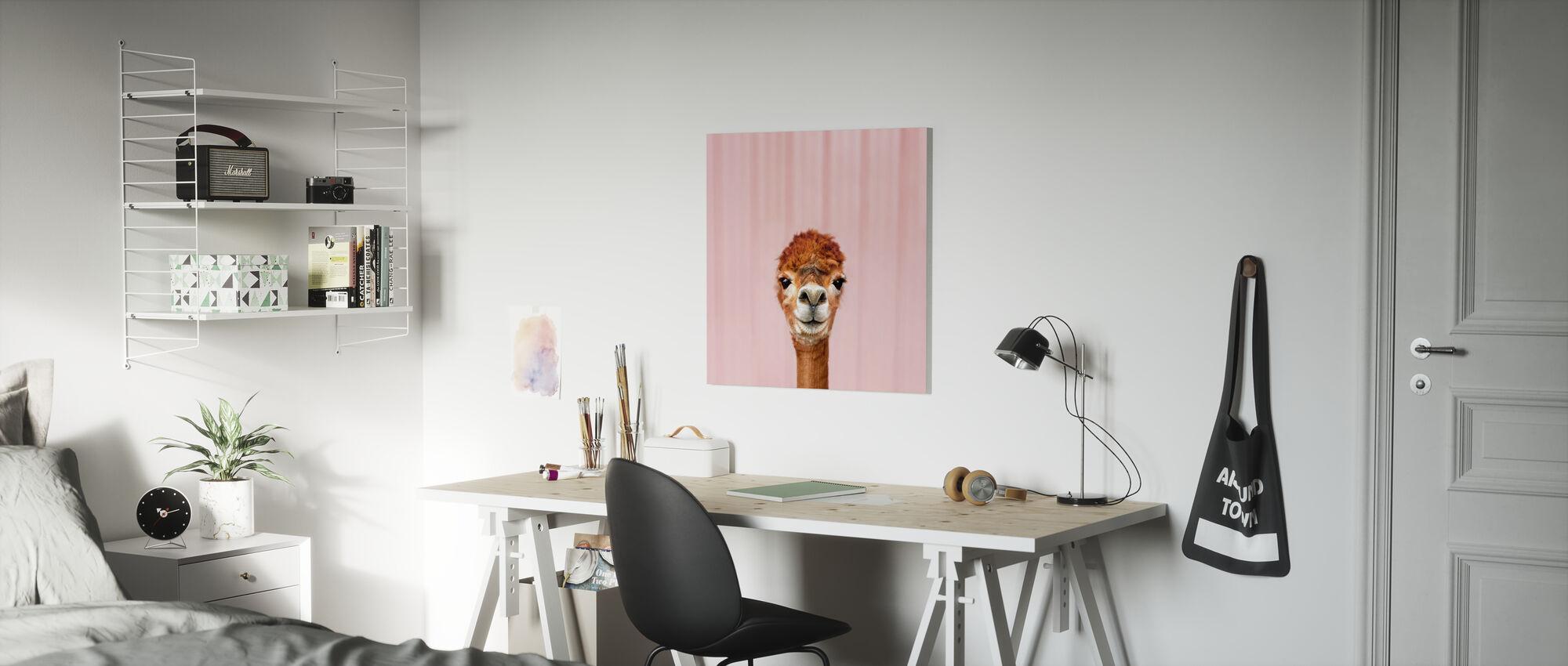 Alpaca Portrait - Canvas print - Kids Room
