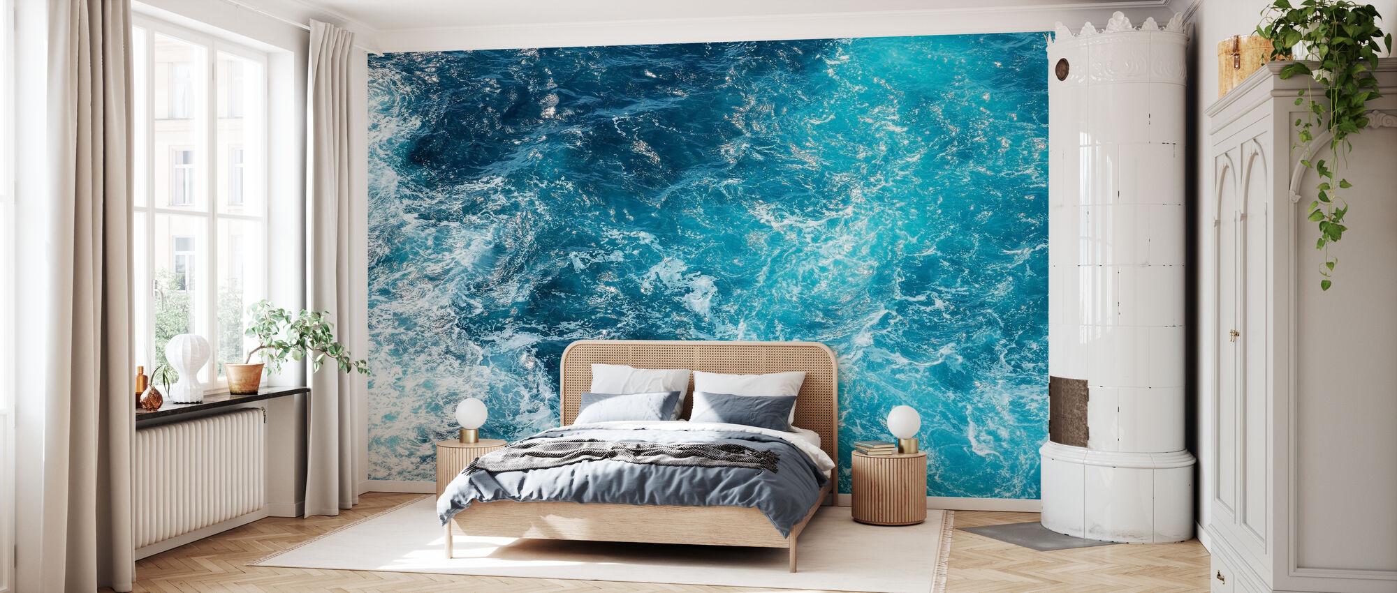 Grove sjøbølger - Tapet - Soverom