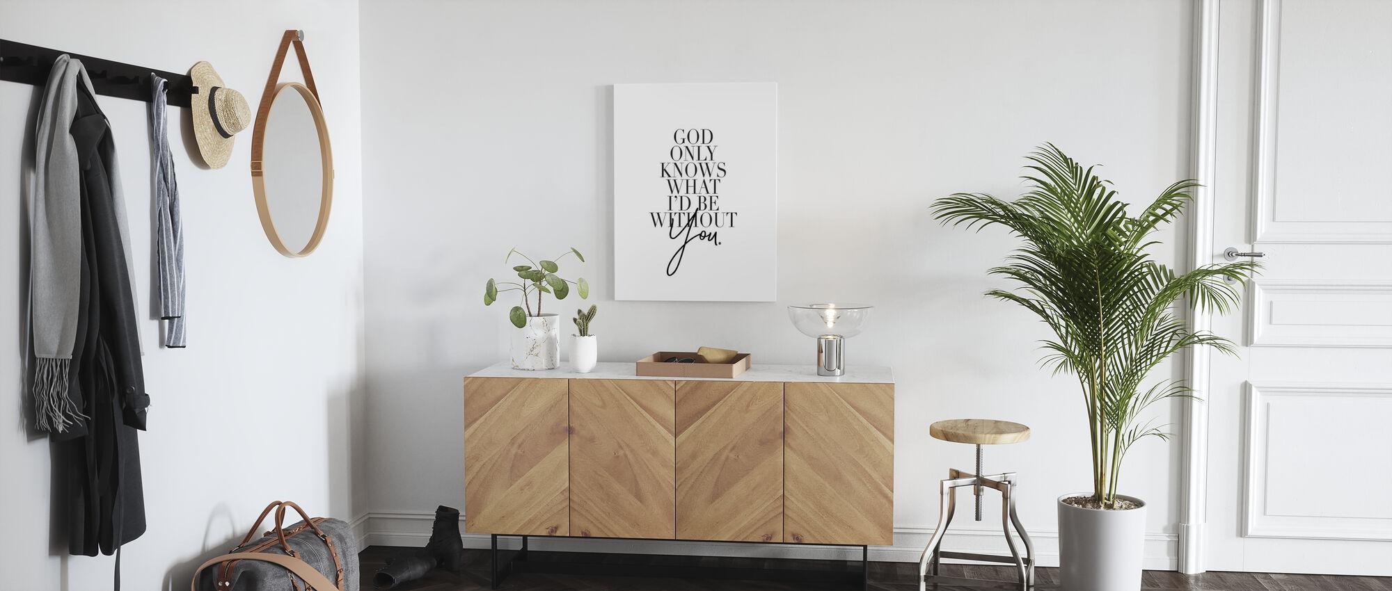 God only Knows - Canvas print - Hallway