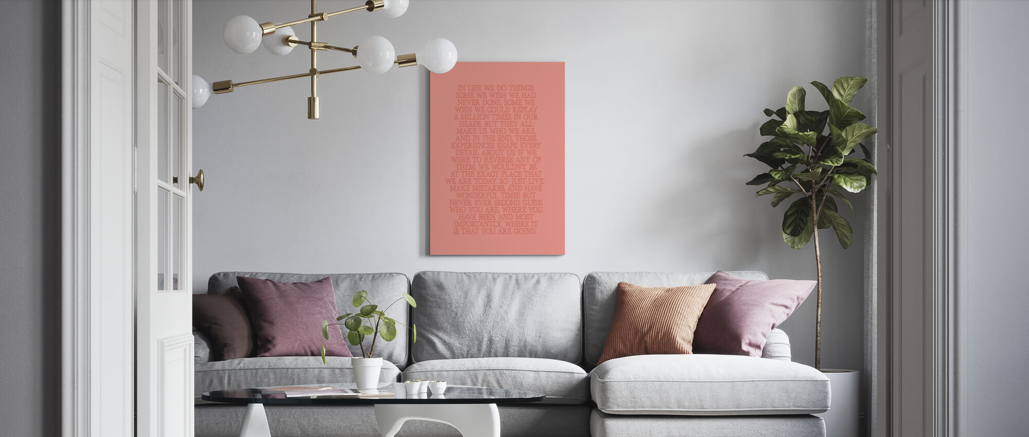 In Life III - Canvas print - Living Room