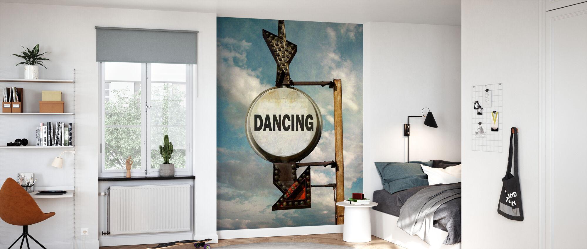 Dansen - Behang - Kinderkamer