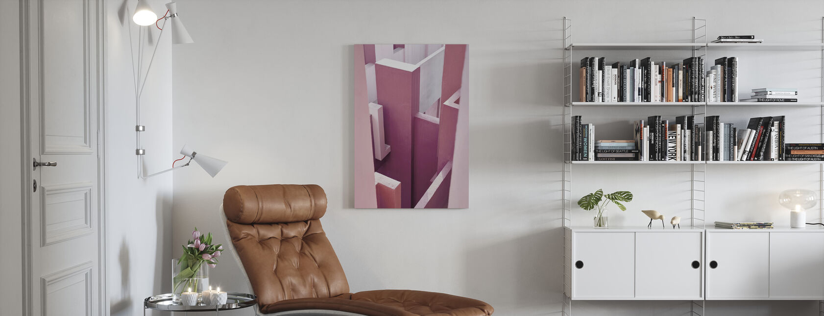 Red Wall - Canvas print - Living Room