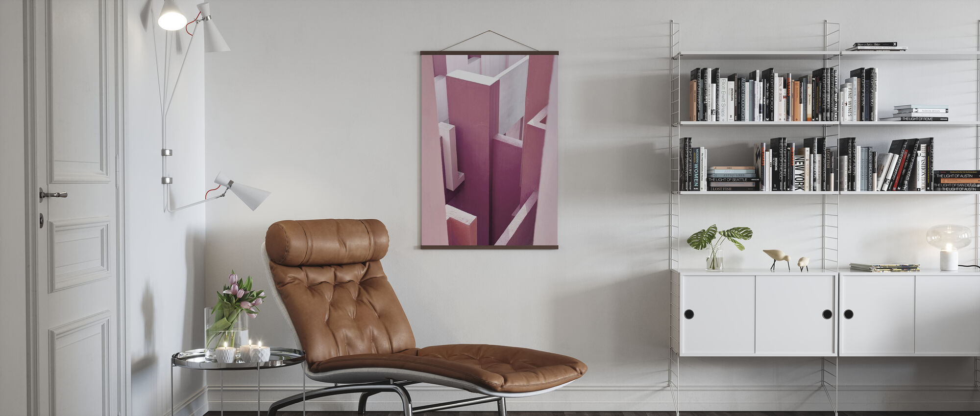 Red Wall - Poster - Living Room