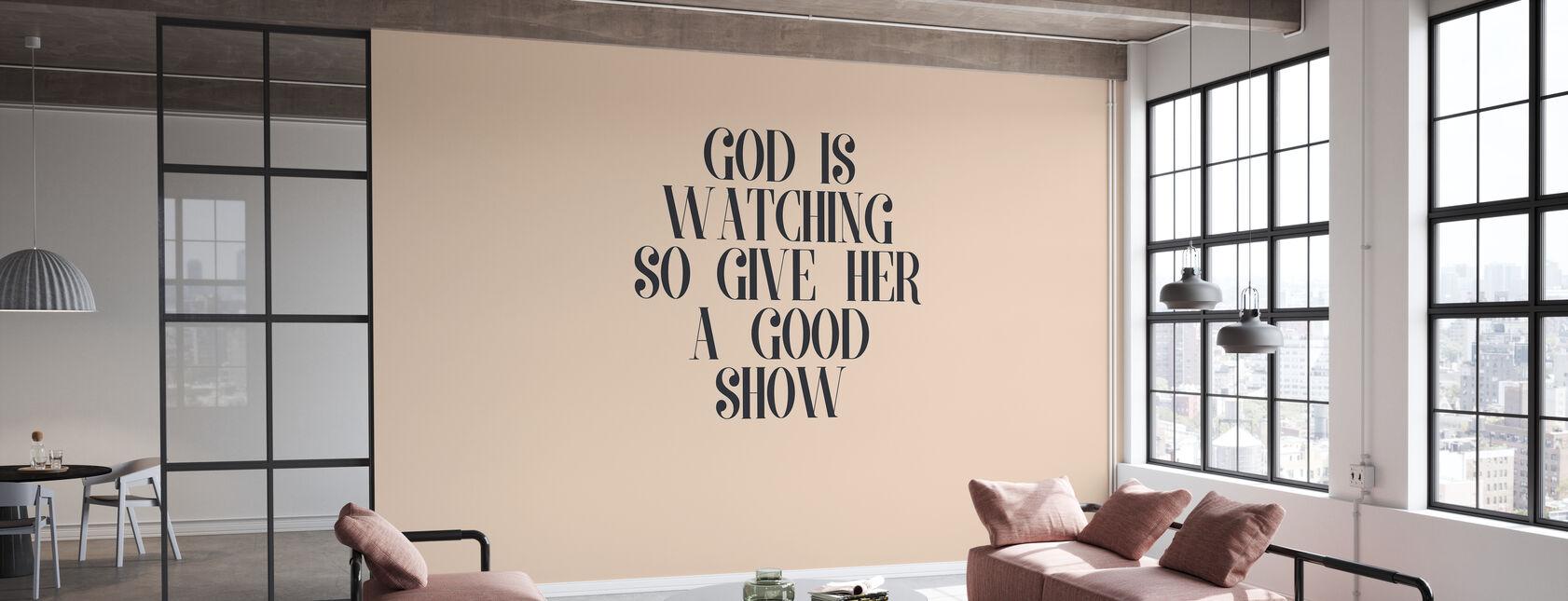 Jumala katselee - Tapetti - Toimisto