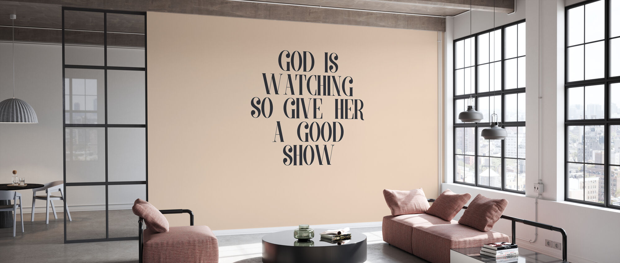 God is Watching - Wallpaper - Office