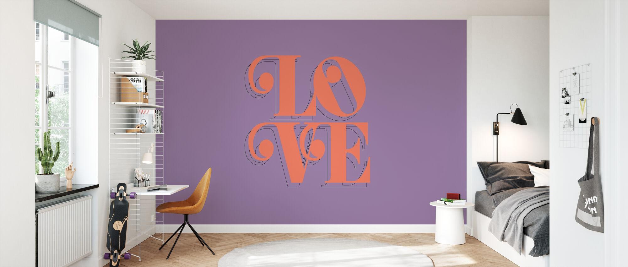 Liefde Fruit - Behang - Kinderkamer