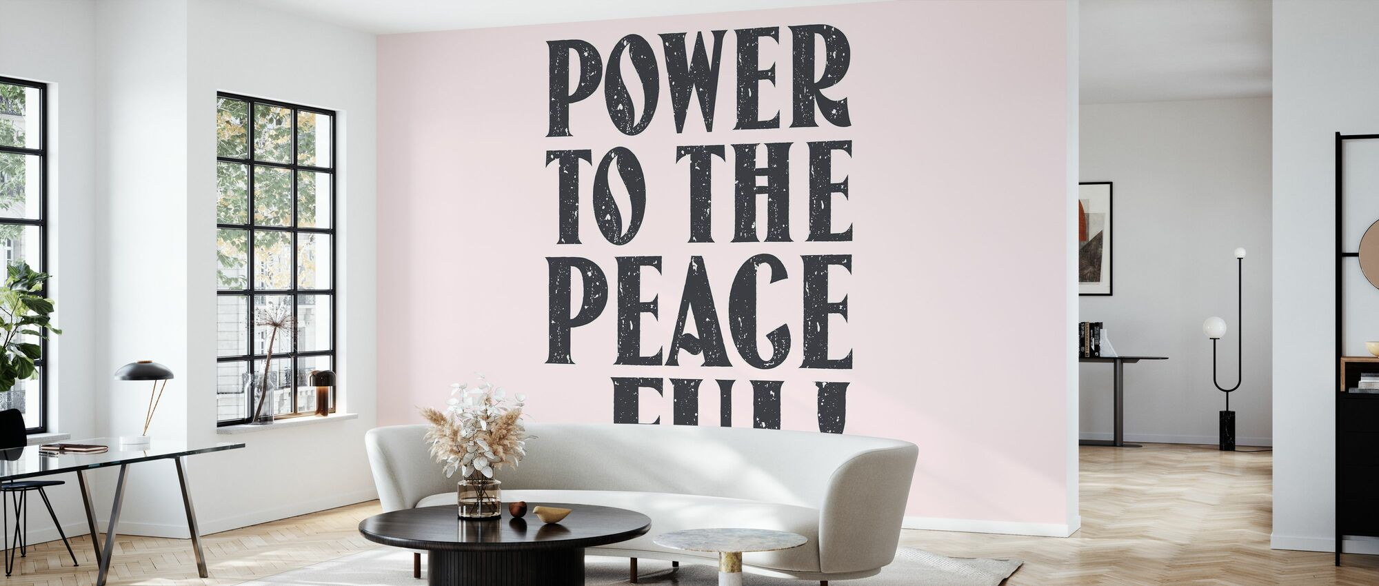 Power to the Peaceful - Wallpaper - Living Room