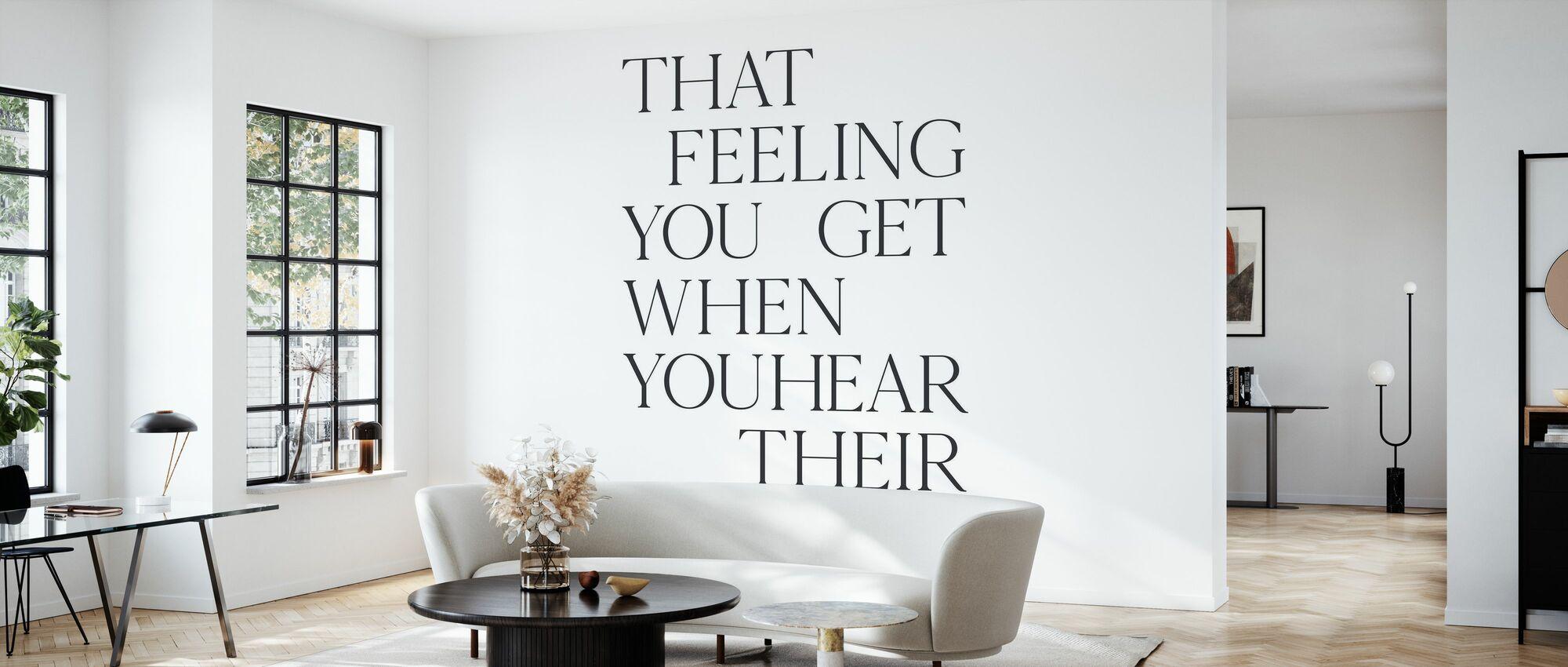 At følelsen du får - Tapet - Stue