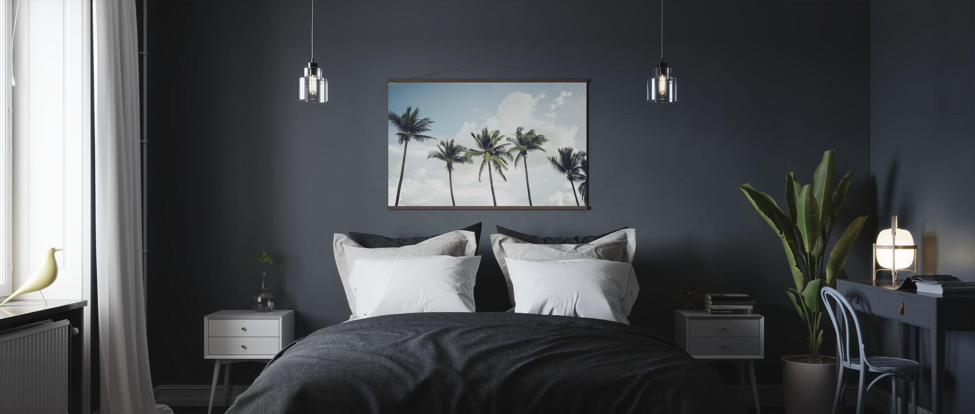 Blasen Palmen - Poster - Schlafzimmer