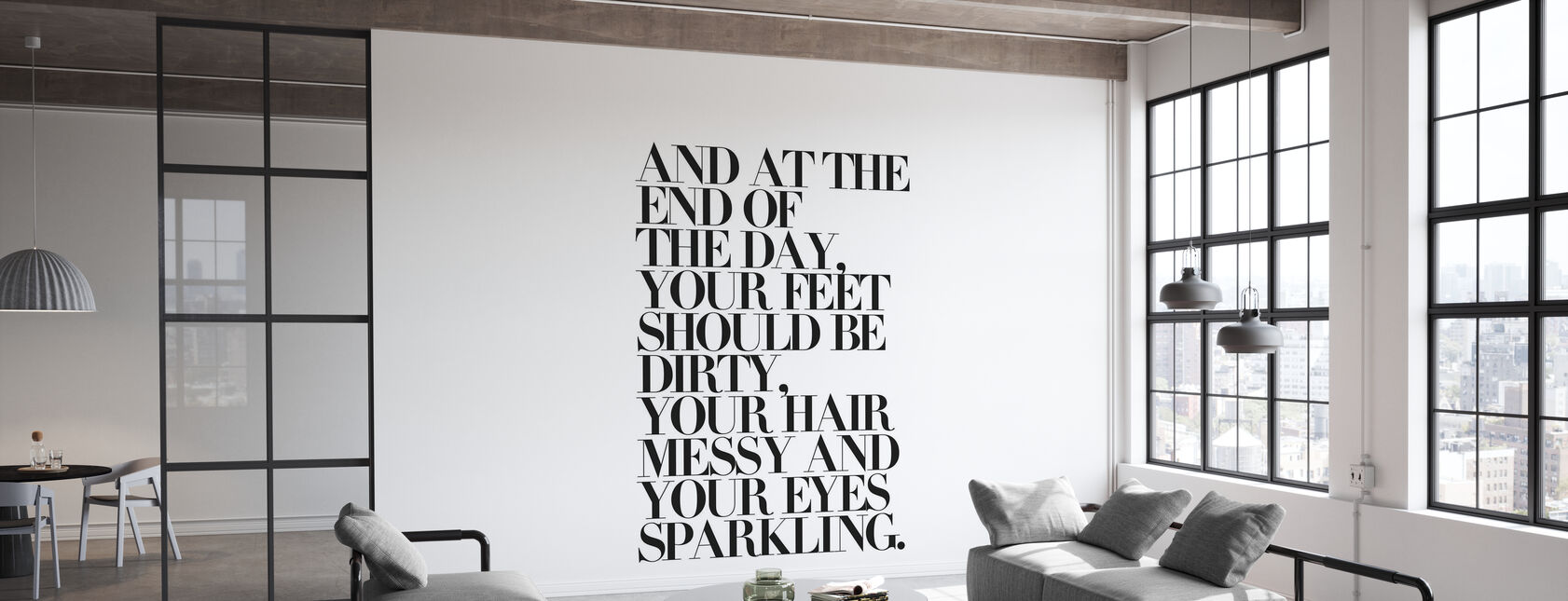 At the End of the Day Your Feet Should Be - Wallpaper - Office