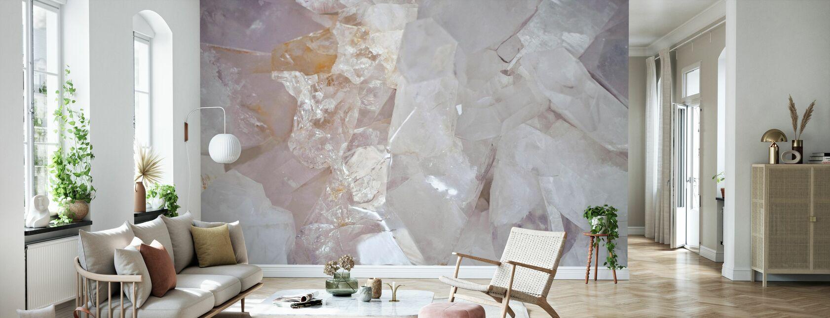 Clear Quartz - Wallpaper - Living Room